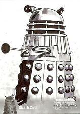 Dr Doctor Who Big Screen Additions Mono Sketch Card by Jason Davies /9 - Dalek