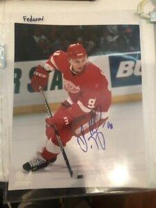 Sergei Federov Detroit Red Wings IP Autograph Auto Signed 8X10 Color Photo HOF