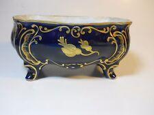 Cobalt Blue footed Box Jlmenau Graf von Henneberg 1777 Germany Porcelain Kobalt