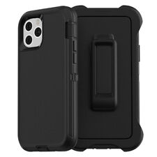 Hybrid Heavy Duty Defender Case Cover Belt Clip Holster For iPhone 12 11 Pro Max