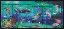 Australia Scott 1707a Cto 1998 Planet Ocean S/S Marina Fauna Whale Shark