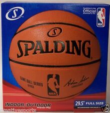 NBA GAME BALL SERIES SPALDING FULL SIZE INDOOR / OUTDOOR BASKETBALL 29.5 74-875