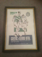 FRAMED CANVAS PRINT - ECSF - CELTIC V LEEDS UNITED - 15/4/1970