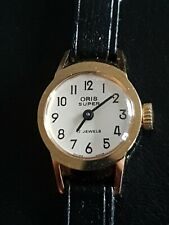 Ladies NOS Gold Plated Vintage Oris Super 17 Jewels Mechanical Wrist Watch