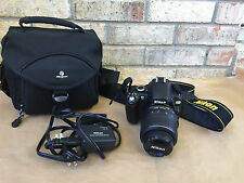 Nikon D60 DSLR Camera w/ 18-55mm f/3.5-5.6G AF-S Nikkor Zoom Lens Plus Extras