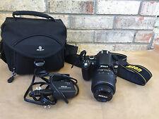 Nikon D60 DSLR Camera w/ 18-55mm f/3.5-5.6G AF-S Nikkor Zoom Lens Plus Extras