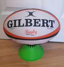 Gilbert Movember Rugby Ball Training Quality Size 5 White/Black/Orange BRAND NEW