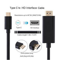 Black USB 3.1 Type C to 4K HDMI HDTV Cable For Macbook Samsung Galaxy S8 S8 Plus
