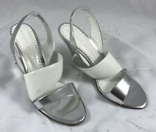 Robert Robert Women's Silver Patent Leather Classic Heels Shoes SIZE 41 EURO NEW