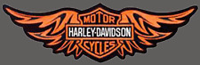HARLEY DAVIDSON STRAIGHT WING ORANGE XXL 12 INCH PATCH