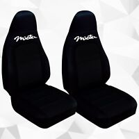 Fits 2001-2006  Mazda Miata  front set car seat covers  solid black with design
