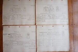 Locomotive Loco Railway Technical Drawing Diagrams x4 Section D