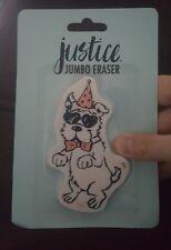Justice adorable birthday dog jumbo eraser (Very Last One)