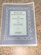 G.Schmirmer Bach Riemenschneider 371 Harmonized Chorales Instruction Book. 1941
