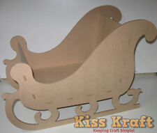 MDF Wooden Christmas Santa Sleigh - Personalised - Holding or Replace Xmas Sack