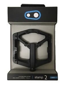 Crank Brothers STAMP 2 Pedals for MTB Mountain Bike - LARGE BLACK V2 - NEW 2020
