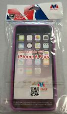iPhone 6+ (Plus) Purple/Clear Protective Bumber Case #10C