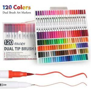 120 couleurs marqueur pinceau stylos dessin peinture stylo ensemble aquarelle do