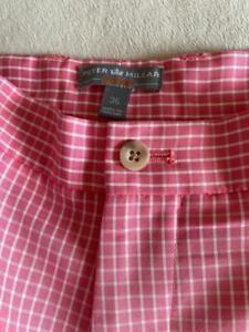 """PETER MILLAR Wicking Men's Golf Four Pocket Shorts Size 36""""  $100"""