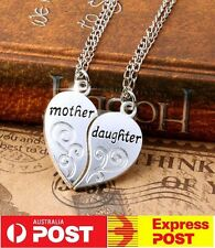 NEW Best Friends Necklace BFF Sliver Heart Pendant Friendship Mother Daughter