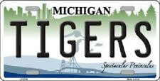 """MLB Detroit Tigers License Plate Team  State Background Metal Tag """"U.S.A."""""""
