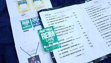 Matthias Reim - Live 2019 Berlin Crew Pass Setlist Passsheet no shirt
