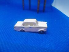 WHITE PLASTIC  TOY CAR FOR A DOLLS HOUSE