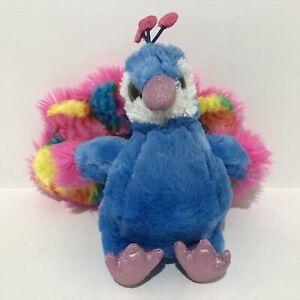 Wild Republic Rainbow Coloured Peacock Plush Toy