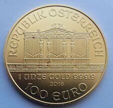 2018 Gold 1oz One Ounce Austrian Philharmonic Coin