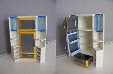 PLAYMOBIL (R262) MAISON MODERNE - Réfrigérateur Blanc & Orange Cuisine 3968