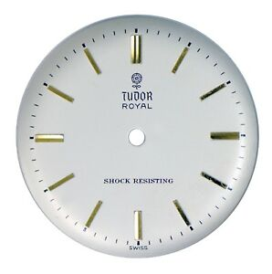 Vint Orig NOS Rolex Tudor Royal Big Rose Shock Resisting Wristwatch Dial 1950s