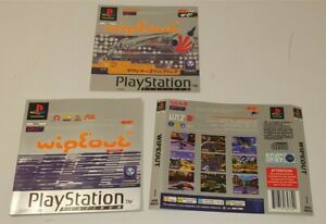 Sony Playstation 1 Wipeout Front, Back Cover & Manual PAL Version PS1