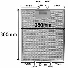 Silver Grease Filter For SMEG Cooker Hood Metal Mesh Vent 300 x 250mm