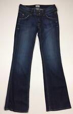 HUDSON 27 Elm Wash Slightly Flared Jeans Denim Dark Wash Women's