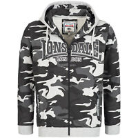 Lonsdale Newstead Men Zip Hooded Sweatshirt Hoody Camouflage Hoodie