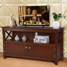 "Brand New Brown Wooden TV Stand with product dimensions 44""L x 16""W x 24""H"
