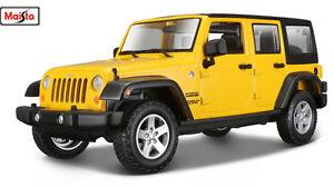MAISTO TRUCKS 1:24 SCALE 2015 Jeep WRANGLER Limited DIECAST MODEL CAR YELLOW