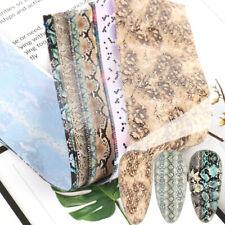 10 Pcs 20X4 cm Snake Skin Print Texture Nail Art Foil Transfer film Manicure DIY