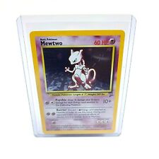 Pokemon Base Set 2 Edition - MEWTWO Holo Foil Rare Card 10/130 M/NM - PSA READY