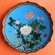 Large Chinese Vintage Cloisonné Cabinet or Wall Plate Platter 1900s