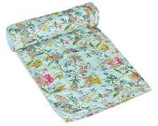 Indian Kantha Quilt Bedspread Throw Cotton Blanket Twin Bedding Handmade Paradis