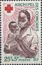 Timbre Santé Médecine Croix Rouge Comores 45 ** lot 22221