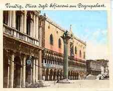 Italia, Venedig (Venezia), Riva degli Schivoni am Dogenpalast  Vintage albumen p