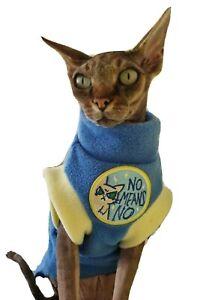 adult M NO MEANS NO Sphynx cat clothes, hotsphynx, cat clothes, Sphynx clothes