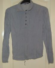 A  LOVELY GEORGE LONG SLEEVE  WOMENS GREY MULTI  STRIPED TOP  UK SIZE 14