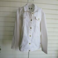 NWT Tommy Hilfiger Women's White Canvas In Bloom Jacket Size 3X MSRP $100