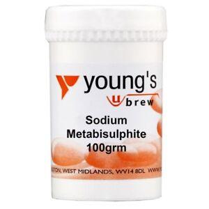 Sodium Metabisulphite 100 grms  (E223) brew, wine & household sterilisation