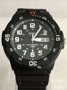 Casio MRW-200H-1BVEF Sports Analog Day Date Black Resin Strap Watch