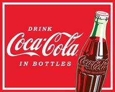 Coca-Cola Drink Coca Cola in Bottles Soda Pop Red Fleece Fabric Panel A340.05