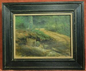 Daniel Kotz Arts Crafts Impressionist Indiana New York Painting Old Tub Woods